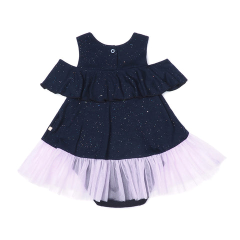 EASYEO Ocean Waves Sparkling Baby Romper Dress