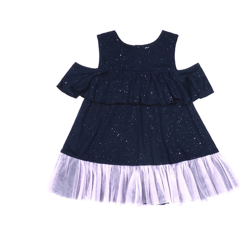 EASYEO Ocean Waves Sparkling Toddler Romper Dress