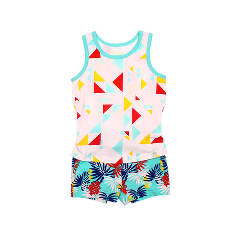 Tropical Dazzle EASYEO Romper Shorts