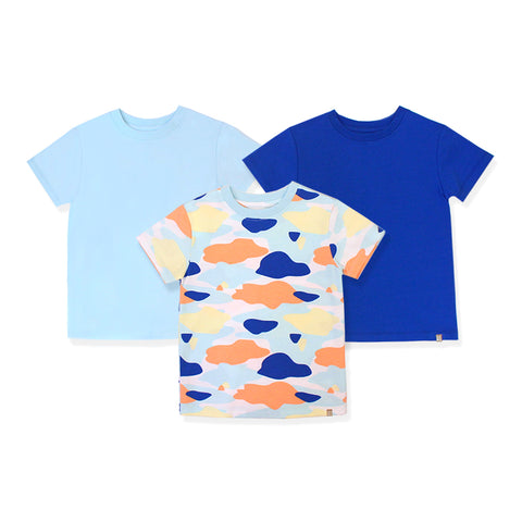 Camo Flash Toddler Essential Tee 3-Piece Bundle (Blue)
