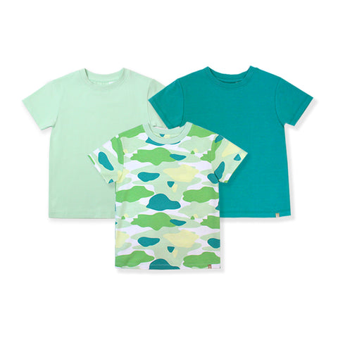 Camo Flash Toddler Essential Tee 3-Piece Bundle (Green)