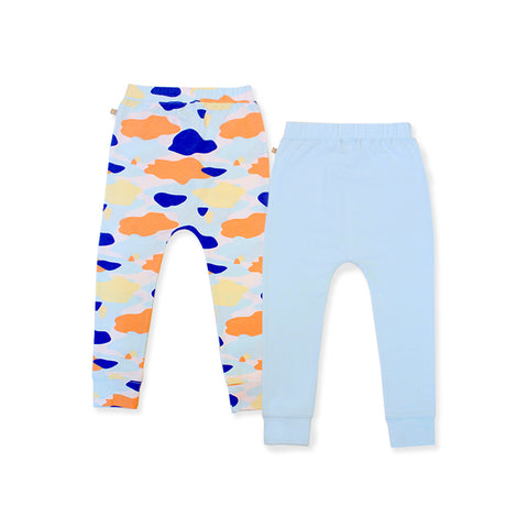 Camo Flash Harem Pants 2-Piece Bundle Set (Blue)