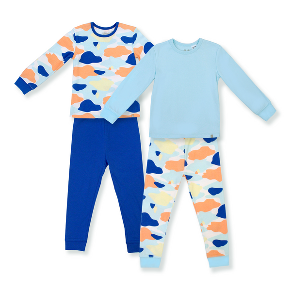 Camo Flash Jammies 4-Piece Bundle Set (Blue)