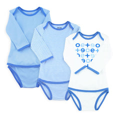 EASYEO Classic Long Sleeve Romper Bundle – Pack of 3