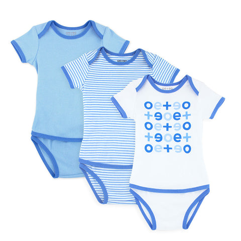 EASYEO Classic Short Sleeves Romper Bundle – Pack of 3
