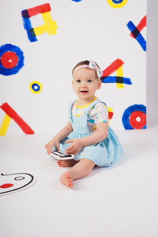 Get Messy Baby Girl Dungaree Dress