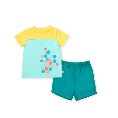 Urban Kids Baby Yoke Tee Set (Green)