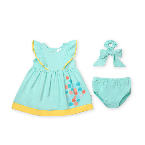 Urban Kids Ruffle Dress Set (Green)