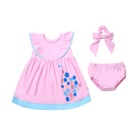 Urban Kids Ruffle Dress Set (Pink)