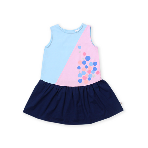Urban Kids Colourblock Dress (Blue)