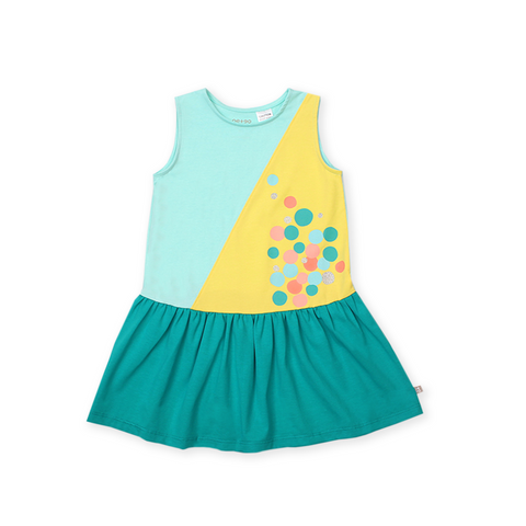 Urban Kids Colourblock Dress (Green)