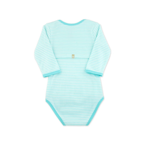 EASYEO Candy Stripes Long Sleeves Romper