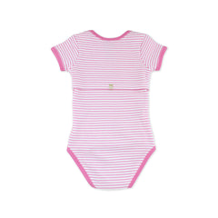 EASYEO Candy Stripes Short Sleeves Romper