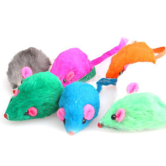 Cute Beautiful Lovely Bright Coloured Little Funny Cute Mouse Toys For Pets Cat  PTSP