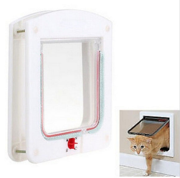 Lockable Cat Flap Door Kitten Dog Pet Safe Lock Pet Safety Products Suitable for Any Wall or Door 15CM*14.7CM