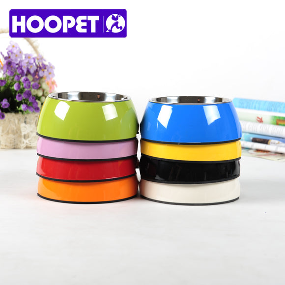 HOOPET Pet Products Double-deck Colorful Stainless Steel Dog Cat Water Food Feeding Bowl Teddy Golden Retriever