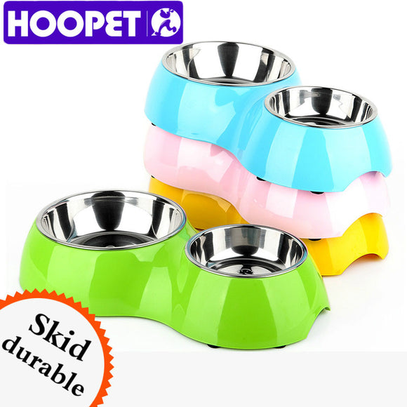 HOOPET New Listing Pet 8 Word Double Bowl Eating Drinking Easy to Clean High Temperature Plastic Universal Tasteless Non-toxic