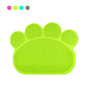 60*45cm Cute Pet Supplies Dog Paw PVC Pet Dog Cat Feeding Mat Pad Pet Dish Bowl Food Water Feed Placemat Puppy Bed Mats Blanket