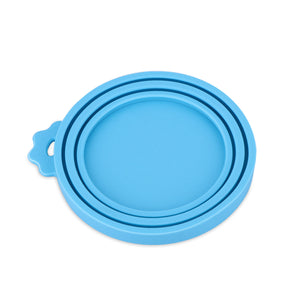Universal Food-Grade Silicone Pet Food Storage Can Lid Cover fit 3 Sizes for Dog Cat(Inner diameter: 9cm/7.5cm/6.5cm)