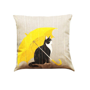 2Pcs Cute Cat Sofa Bed Home Decoration Festival Pillow Case Cushion Cover