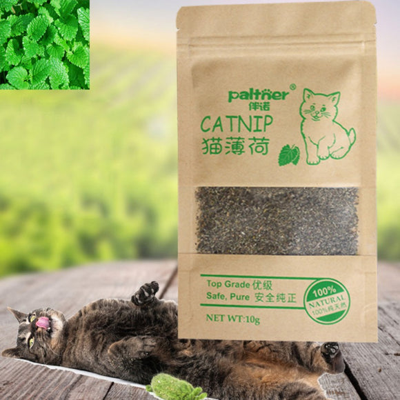 Cat Mint Natural Organic Premium Catnip 10g Cat Mint Menthol Flavor Cat Treats Funny Toy