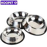 HOOPET Pet Dog Daily Products Stainless Steel Feeder Bowls Feeding Food Water Dish