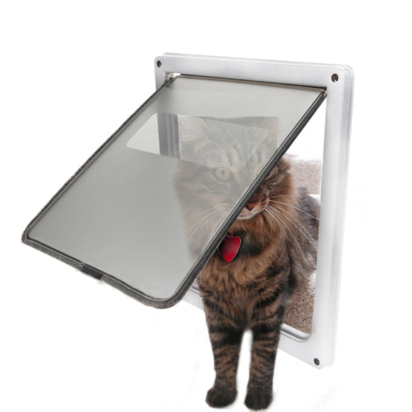 Large Pet Cat Door Puppy Dog Lock Lockable Safe Flap Door Gate Lockable Security Dog Cat Kitty Door for Small Medium Dogs
