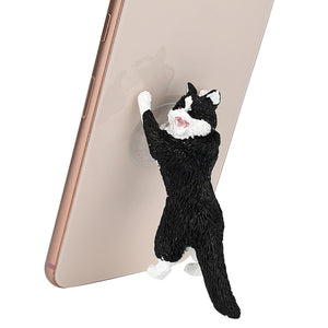 Cute Cartoon Cat Phone Sucker Bracket Simulation Animal Model Phone Bracket