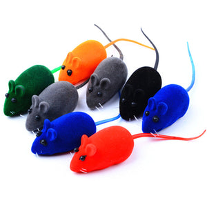 10pcs/lot Cat Toy Mouse Small Rodents Mouse Stuffed Toys Squeak Noise Sound Toy For Cat Dog Pet Tricky Toys Multicolor 6*3*2.5cm
