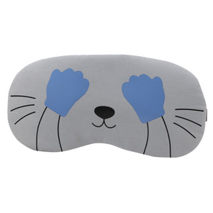 Eye Mask Soft Padded Sleep Travel Shade Cover Rest Relax Sleeping Blindfold