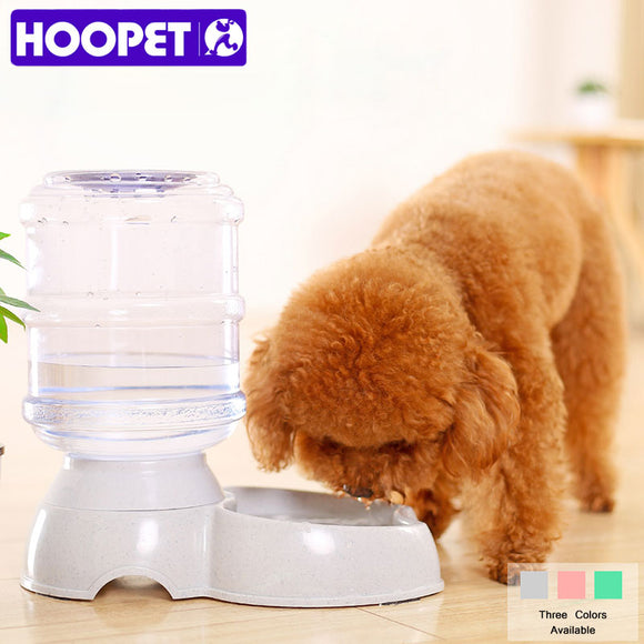 HOOPET Pet Dog Cat Three Color Waterer Water Bowl Automatic Water Feeder Big Capacity
