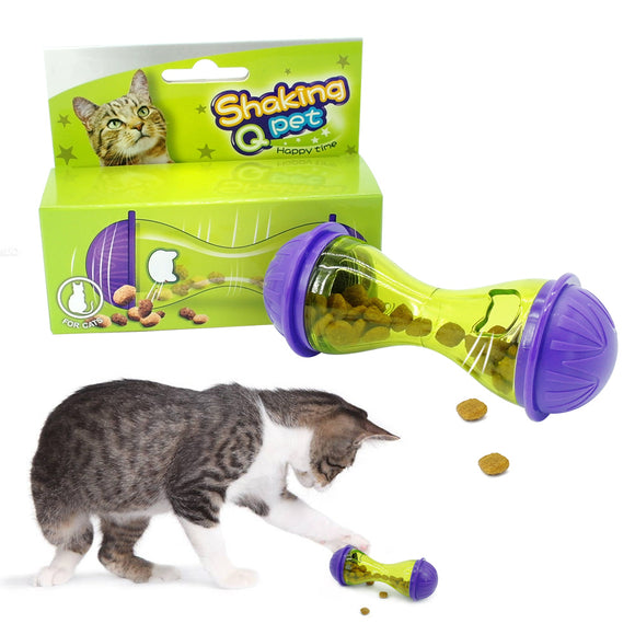 Cat IQ Treat Toy Smarter Interactive Kitten Ball Toys Pet Food Dispenser Puzzle Feeder For Cats Playing Training