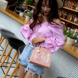 Animal Messenger Bag Women Handbags Cat Rabbit Pattern Shoulder Crossbody Bag