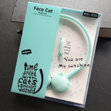 Cute Cat Colored Stereo Pink Headphones Headset Earphones