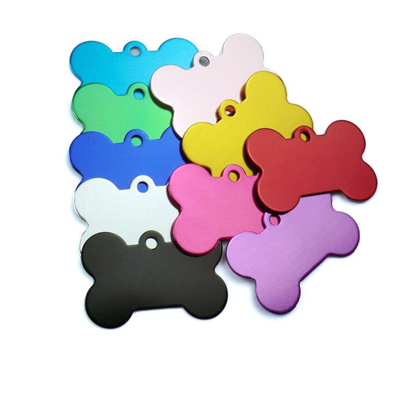 Aluminum Pet ID Tags for Cat and Dog, 10 pcs