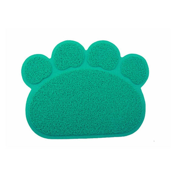 PVC Pet Dog Cat Puppy Kitten Dish Bowl Food Water Placemat Mat Paw Shape