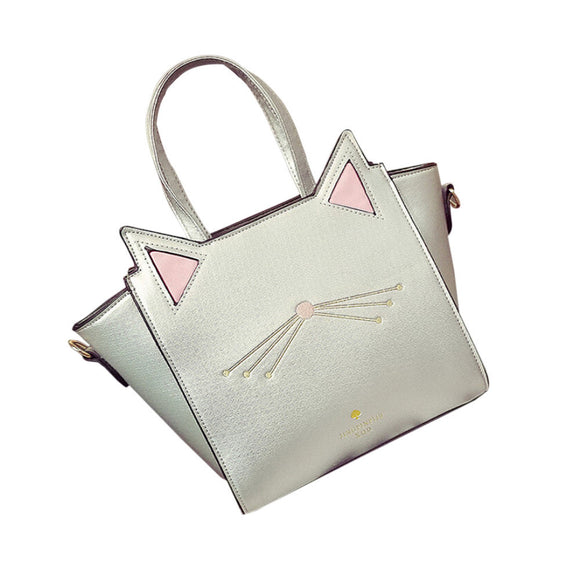 Large Capacity Handbag Lovely Women's Cat Ear Shoulder Bag Messenger Bag