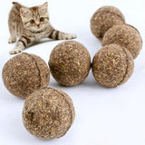 1PC Natural Catnip Cat Treat Ball Mint Chasing Toys for Cats Kitten Healthy Safe Edible Treating Ball Toys Pet Cat Products