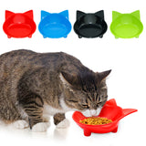 Colorful Cute Cat Dog Bowl Puppy Kitten Dish Feeder With Non-Slip Rubber Bottom Pet Food & Water Bowls 4 Colors