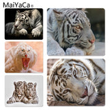 MaiYaCa  White Tiger Wallpapers Silicone Pad to Mouse Game Size for 180*220*2mm Gaming Mousepads