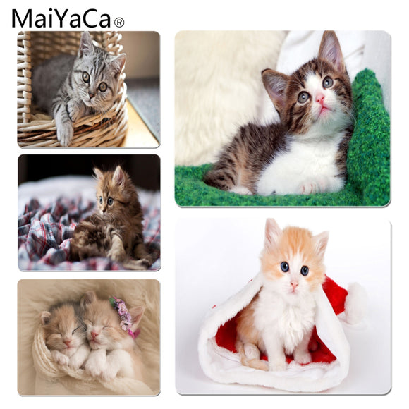 MaiYaCa New Printed Lovely Kitten Customized laptop Gaming mouse pad Size for 180x220x2mm and 250x290x2mm Small Mousepad