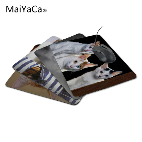 MaiYaCa Peeking cats aming Personalized Durable Mouse Pad Mat Comfort Me Pads 20x25cm Mouse Pad