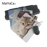 MaiYaCa New Arrival Cute Kitten Lking Paw Decorative Comfort Mouse Pad 180x220 MM aming Mouse Mat OverLock Mouse Pad