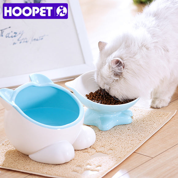 HOOPET Dog Cats Feeder Bowl Cat Food Dish Pet Ceramics Bowls Accessories