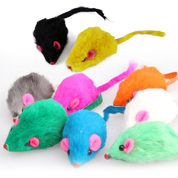 Multi Colors Soft Fleece False Mouse Cat Toys Cats Accessories Fur Mouse Mice Playing Toys for Cats