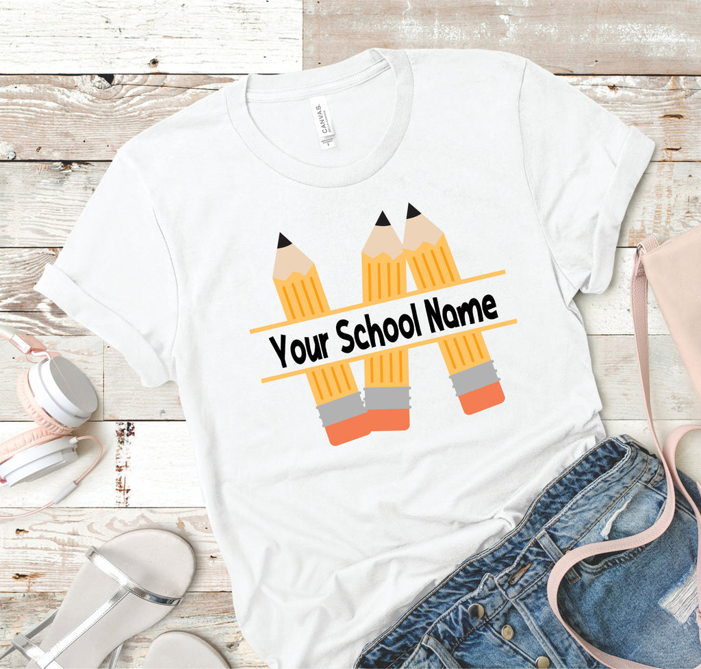 School Name - Pencils - Women's Tee