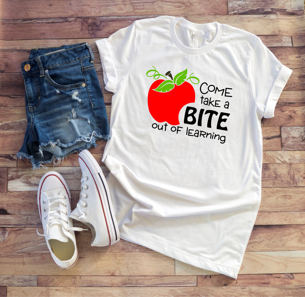 Take A Bite Out Of Learning Teacher Tee