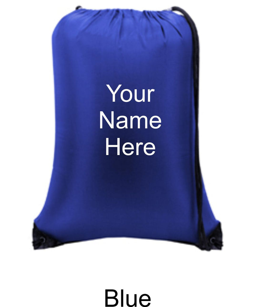 Personalized Nylon Cinch Sack Bags - TruColors Art & Design