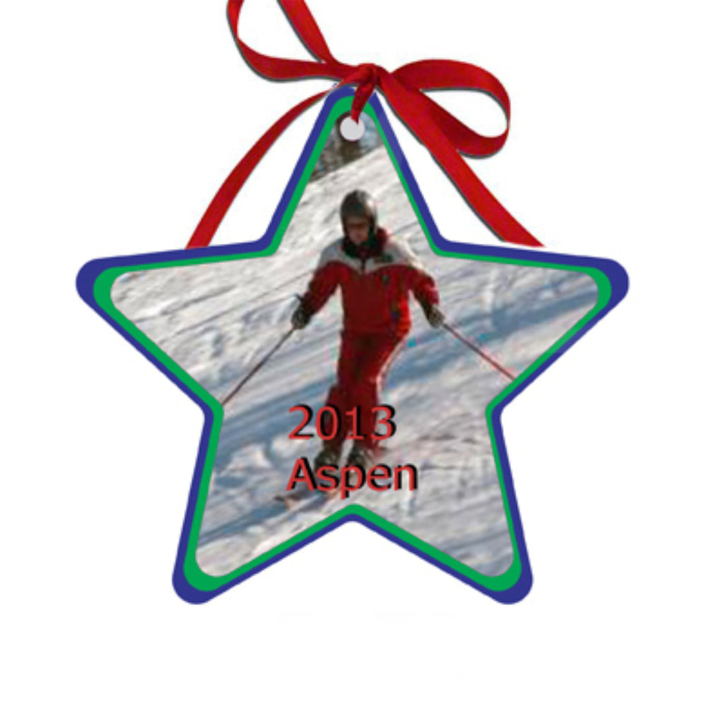 Personalized Star Christmas Ornaments Gifts - TruColors Art & Design