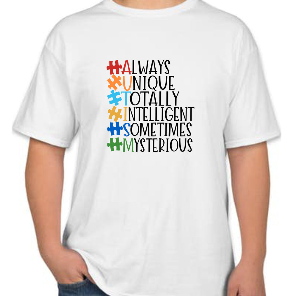 "Autism ""Always Unique"" Kids T-Shirt"